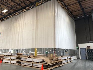 Warehouse Curtain Divider in Shipping Dock Area