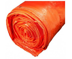 Insulated Tarp in Orange for Thermal Concrete Insulation during Winter
