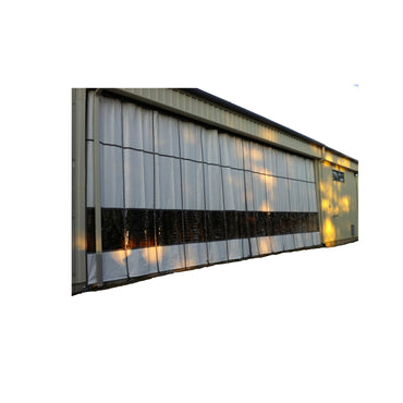 Outdoor Industrial Curtain Mounted on Exterior of Warehouse