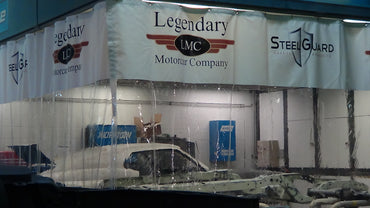 Legendary MotorCar Paint Booth Station with Curtains