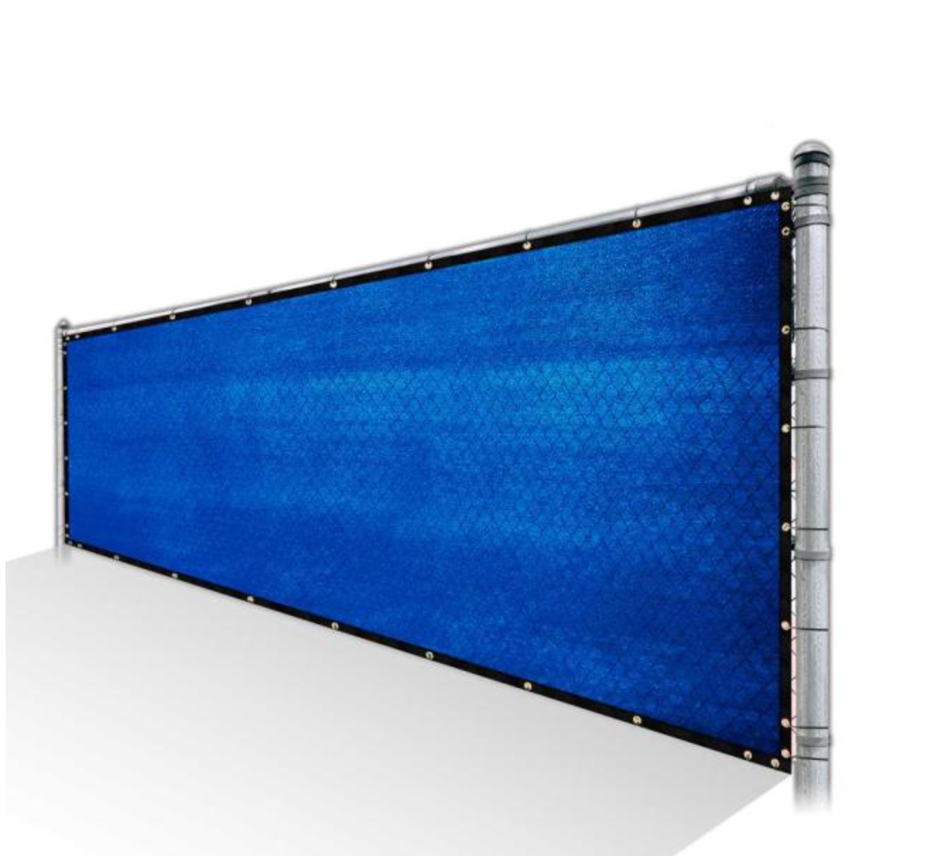 Privacy Fence Screen 85% Shade - Blue Mesh Fabric