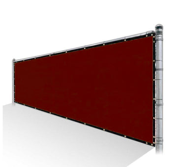 Privacy Fence Screen 85% Shade - Red Mesh Fabric