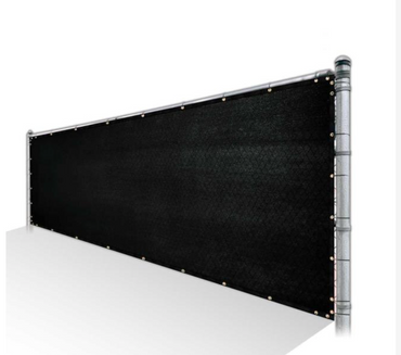 Privacy Fence Screen 85% Shade - Black Mesh Fabric