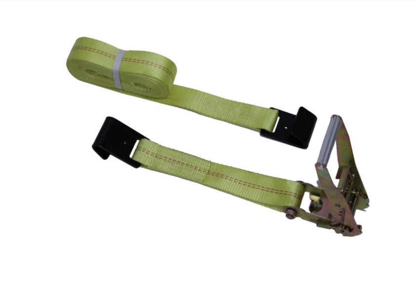 Heavy Duty Ratchet Straps w/ J Hooks -  4 in - Long Handles