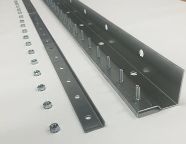 Universal Mount Strip Curtain in Galvanized Steel