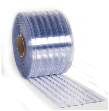 Vinyl Door Strip Rolls in Ribbed Style