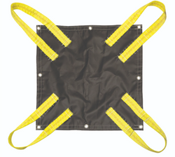 Snow Removal Tarp 20 feet x 20 feet with four point sling