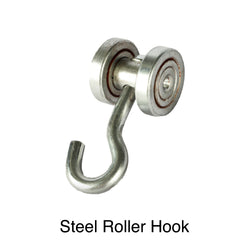 Industrial Curtain Track Hardware - Track, Rollers, End Stops, Universal Mount