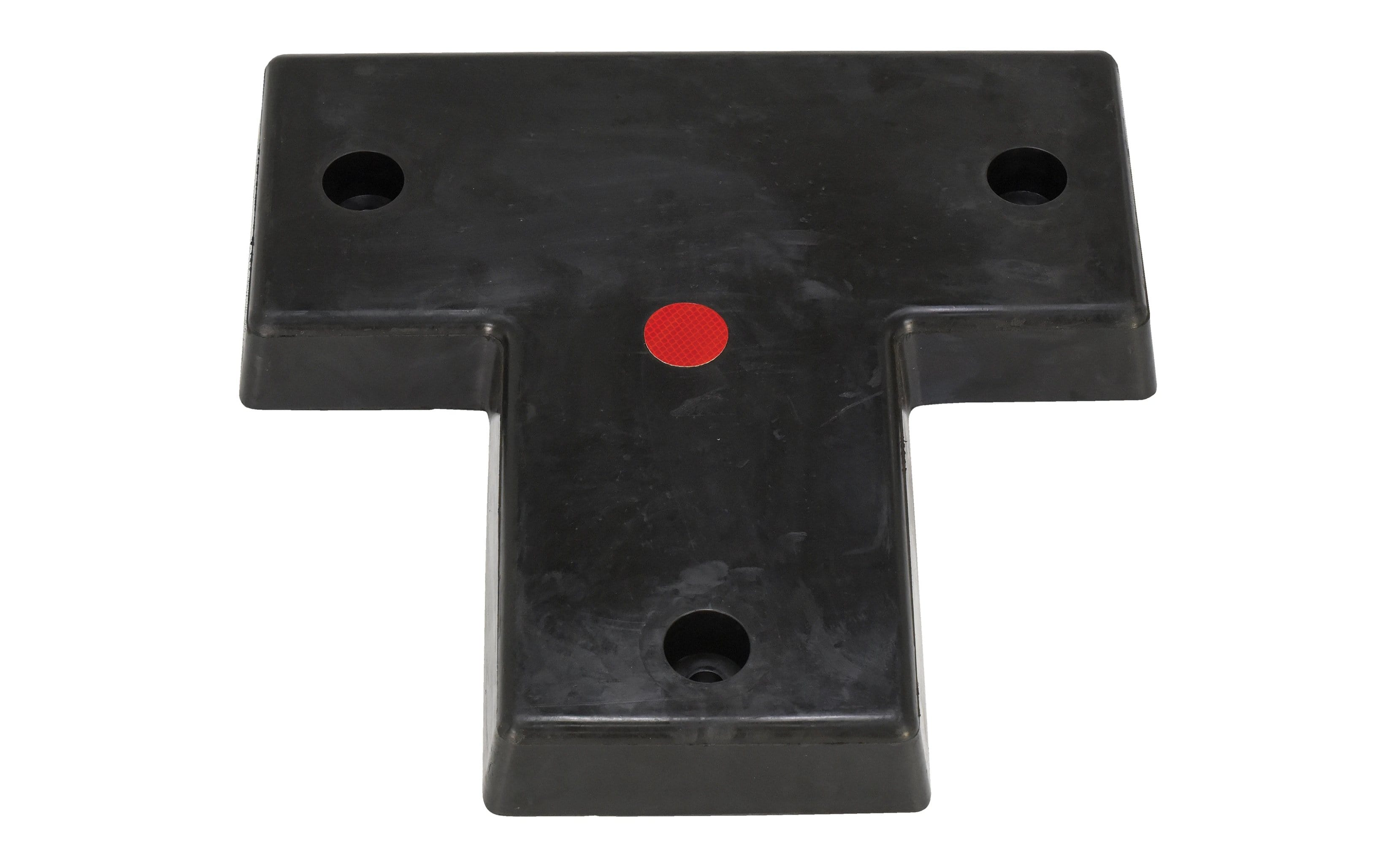 Vestil Molded Rubber Bumper T-Shape - W - 22 in x H - 22 in x D - 3 in - Model T-22