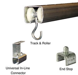 Welding Curtain Track Hardware with Universal Mounbt