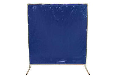 Welding Screens & Frame, Transparent 14 Mil Blue, See-Thru Weld Screens