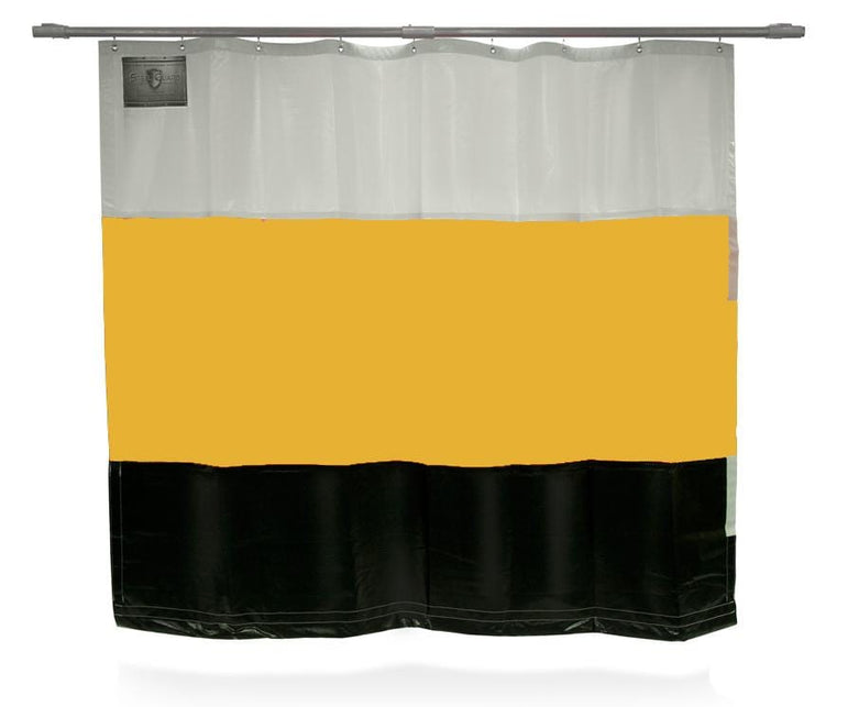 Welding Curtain Partition in White Yellow and Black