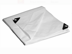 White Poly Tarps Medium Duty - Flame Retardant