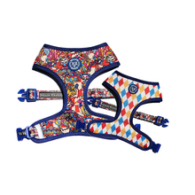 "Load image into Gallery viewer, ""May All Your Days Be Circus Days"" reversible dog harness"