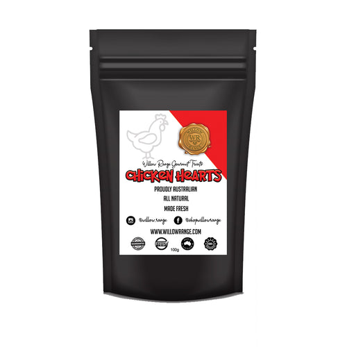 Chicken Hearts 100g - Willow Range Gourmet Treats