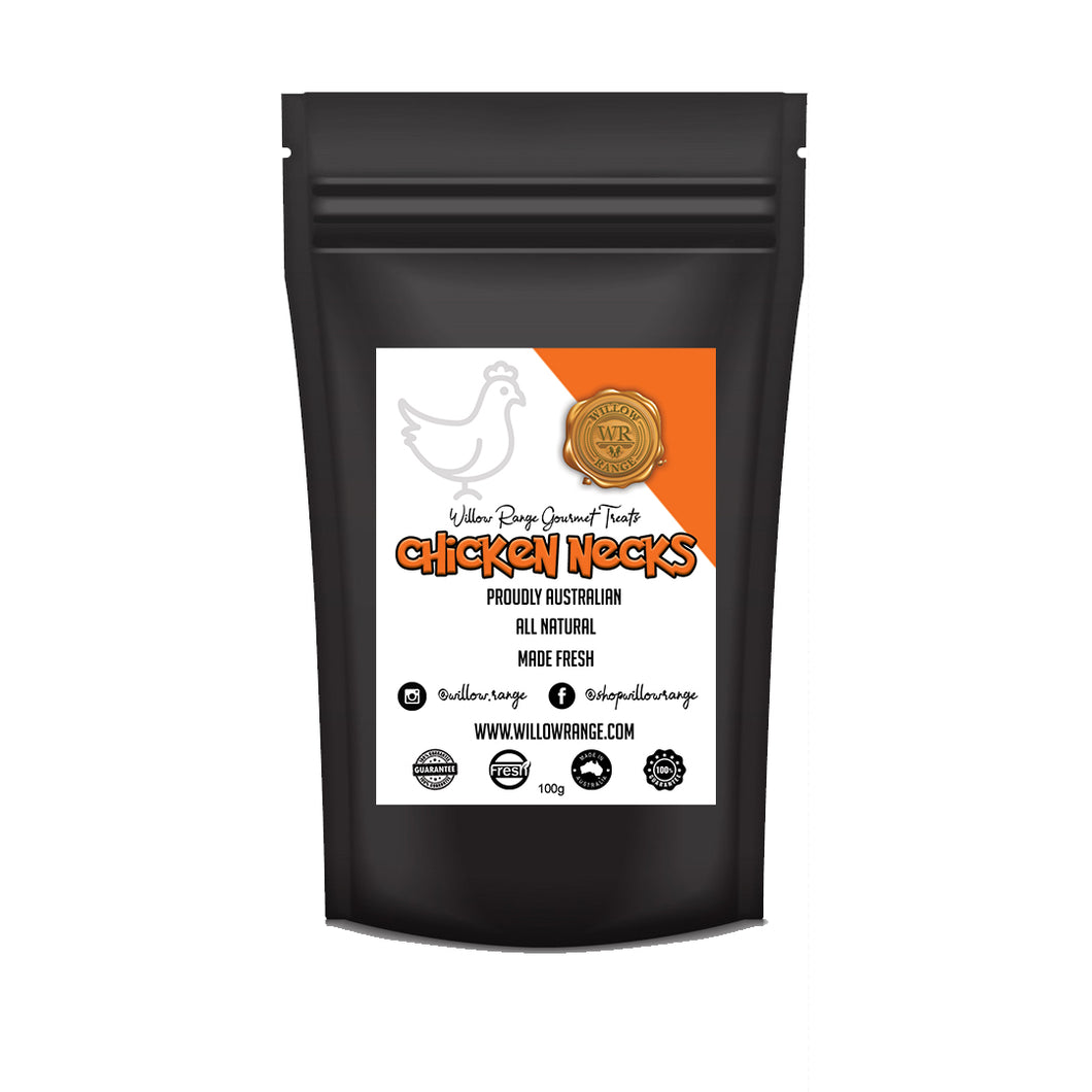 Chicken Necks 100g - Willow Range Gourmet Treats