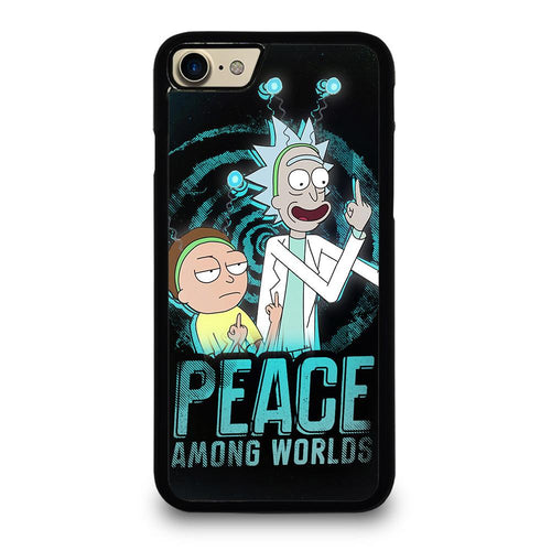 coque custodia cover fundas iphone 11 pro max 5 6 7 8 plus x xs xr se2020 C29662 RICK AND MORTY PEACE AMONG WORLDS iPhone 7 / 8 Case