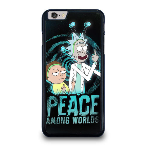 coque custodia cover fundas iphone 11 pro max 5 6 7 8 plus x xs xr se2020 C29661 RICK AND MORTY PEACE AMONG WORLDS iPhone 6 / 6S Plus Case