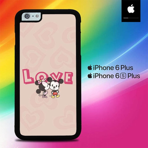 Story Love Mickey  Minnie Mouse O0723 fundas iPhone 6 Plus, 6S Plus