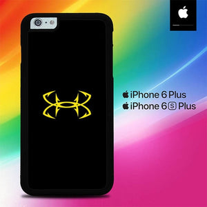 Under Armor Logo Yellow O0854 fundas iPhone 6 Plus, 6S Plus