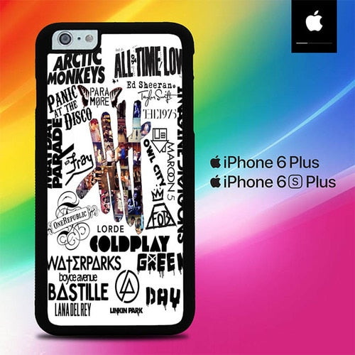 5 SOS Monkeys Bastille Coldplay O3437 fundas iPhone 6 Plus, 6S Plus