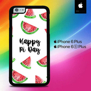 Happy Pi Day Pattern Watermelon O4022 fundas iPhone 6 Plus, 6S Plus