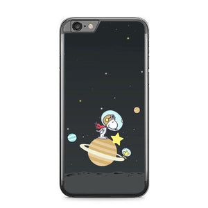 Snoopy in Galaxy O7469 fundas iPhone 6 Plus, 6S Plus