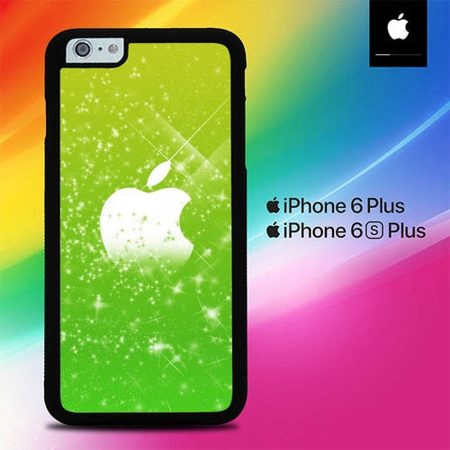 Green Apple Glitter O7574 fundas iPhone 6 Plus, 6S Plus