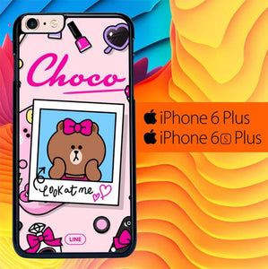 Brown Look At Me L0075 fundas iPhone 6 Plus, 6S Plus