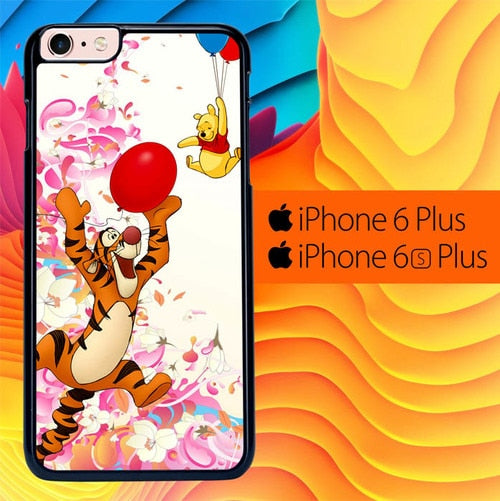 tiger and winnie the pooh balloons L0385a fundas iPhone 6 Plus, 6S Plus