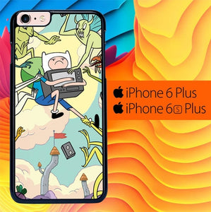 Adventure Time Finn and Monsters L1128 fundas iPhone 6 Plus, 6S Plus