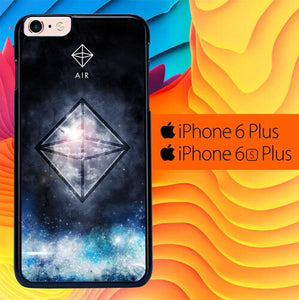 Sacred Geometry Symbol For Air L1283 fundas iPhone 6 Plus, 6S Plus