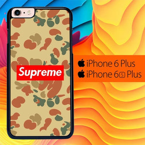Supreme Pattern Brown L2005 fundas iPhone 6 Plus, 6S Plus
