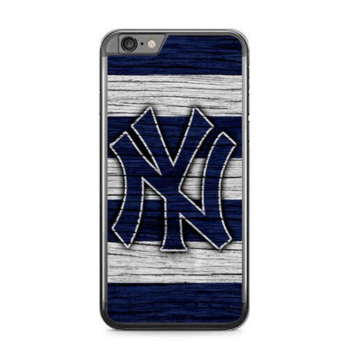 New York yankees wood Logo L3096 fundas iPhone 6 Plus, 6S Plus