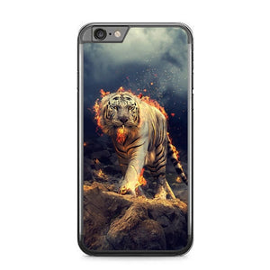 Tiger With Fire P1841 fundas iPhone 6 Plus, 6S Plus