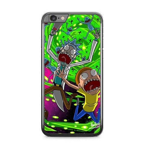 Rick And Morty Falling in Down P1956 fundas iPhone 6 Plus, 6S Plus