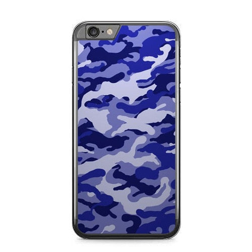Purple Camo P1957 fundas iPhone 6 Plus, 6S Plus