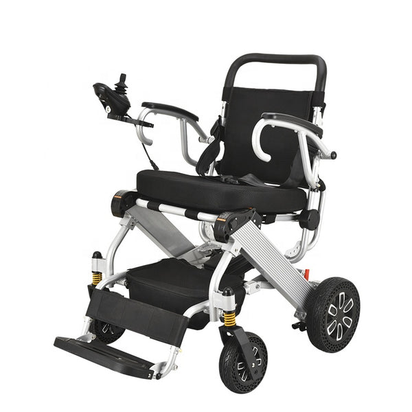 Hot selling on amazon lightweight 19.8kg with brushless motor environmentally friendly tires folding wheelchair