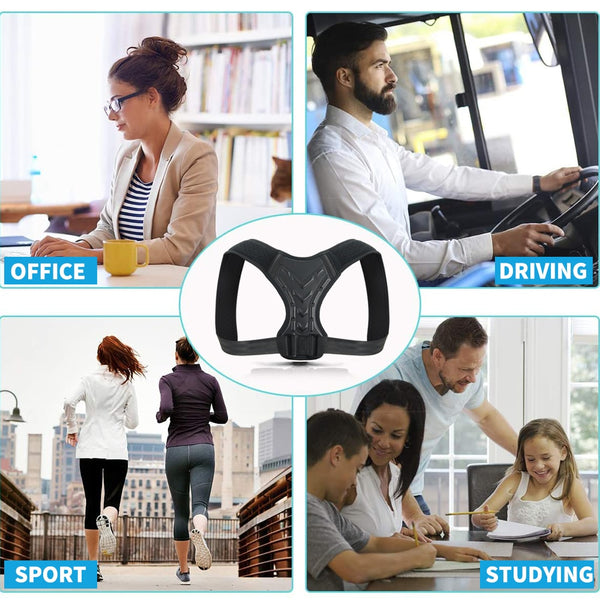 Spine Corset Support Posture Corrector Back Brace Adjustable Posture Brace for Upper Back Shoulder Back Pain Relief Trainer