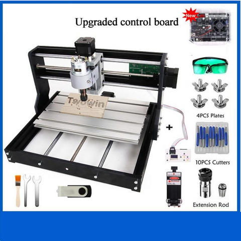 Upgraded 3018 Pro GRBL control ER11 Diy mini cnc machine 3 Axis pcb Milling Machine Wood Router Laser Engraving