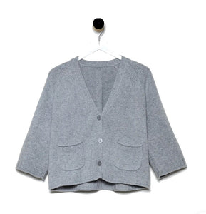 Revive Cashmere Cropped Chunky Cardigan