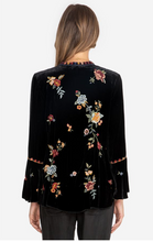Load image into Gallery viewer, Johnny Was Sisilia  Black Velvet Flare Blouse