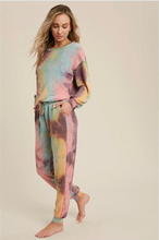 Load image into Gallery viewer, Tie-Dye Jogger Pants- Mint/Coral