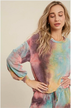 Load image into Gallery viewer, Tie-Dye Crewneck Casual Top- Mint/Coral