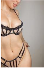 Load image into Gallery viewer, Maude Mesh Lingerie Set -Black