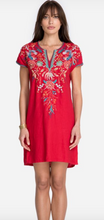 Load image into Gallery viewer, Johnny Was Ariel Easy Tunic Dress - Lipstick Red
