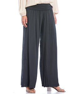 Made in Italy Anthracite Silk Pant