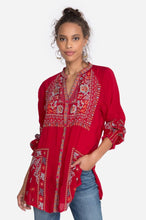 Load image into Gallery viewer, Johnny Was Embroidered Cherry Tunic