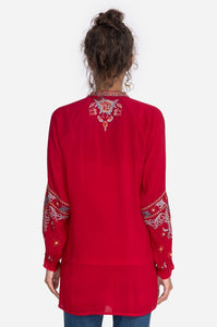 Johnny Was Embroidered Cherry Tunic