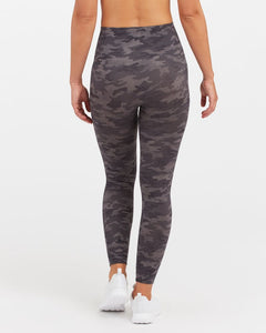 Spanx Look At Me Now Leggings  Grey Camo